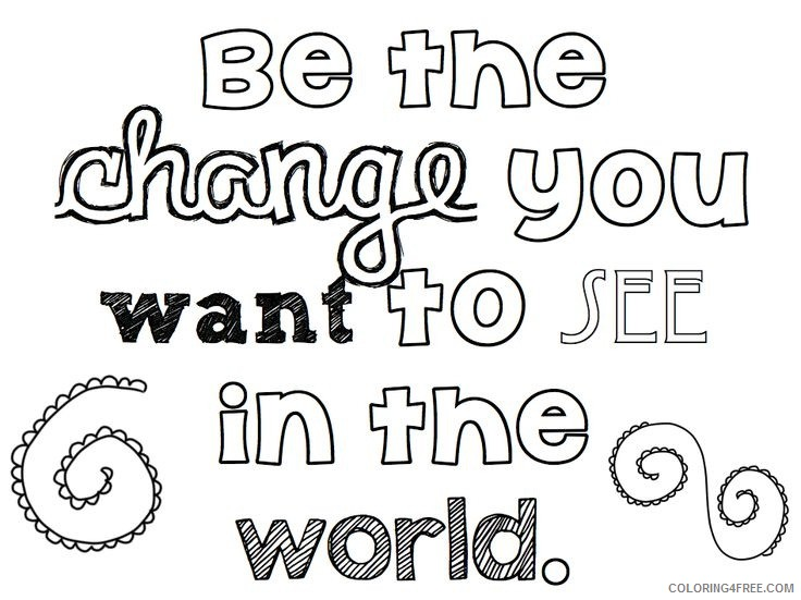 quote coloring pages about change Coloring4free