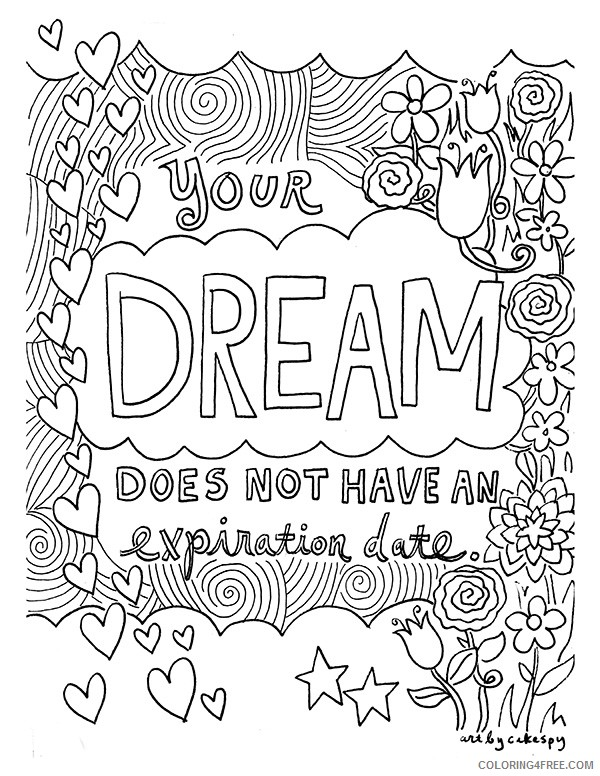 quote coloring pages about dream Coloring4free