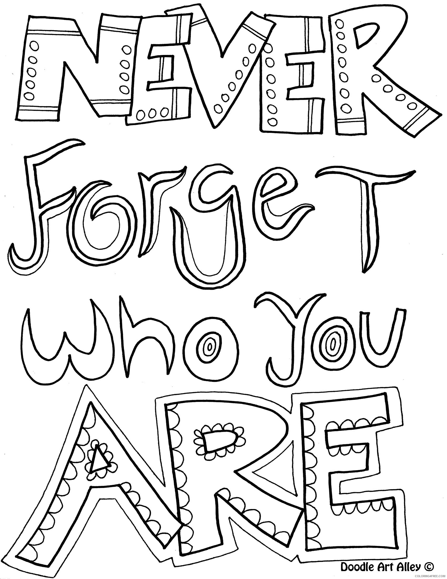 quote coloring pages about you Coloring4free