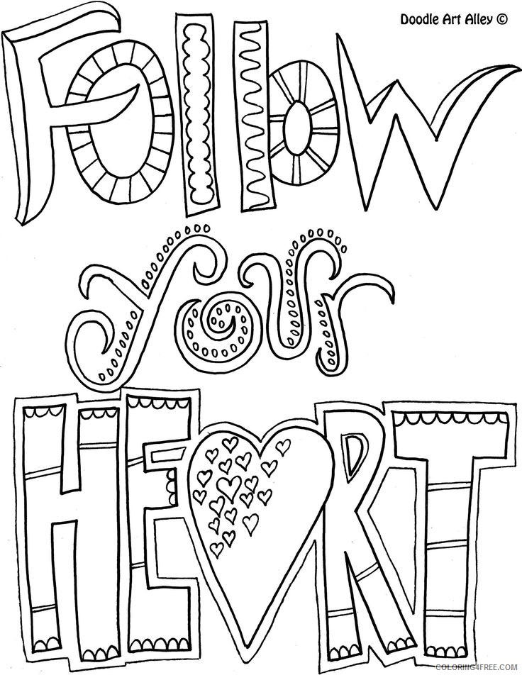 quote coloring pages follow your heart Coloring4free