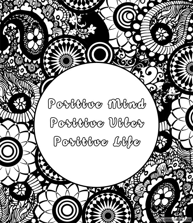 quote coloring pages for adults Coloring4free