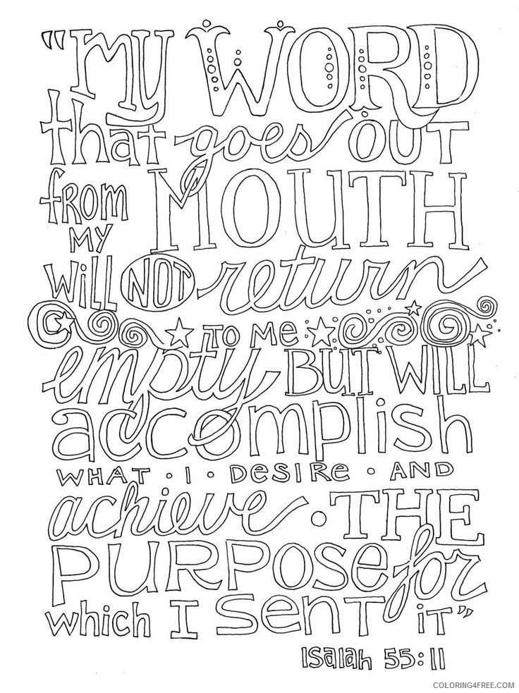 quote coloring pages from bible Coloring4free