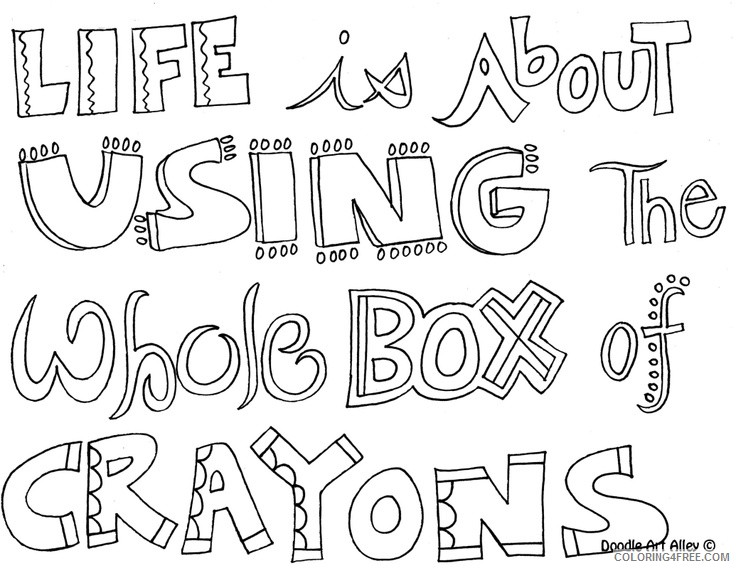 quote coloring pages of life Coloring4free