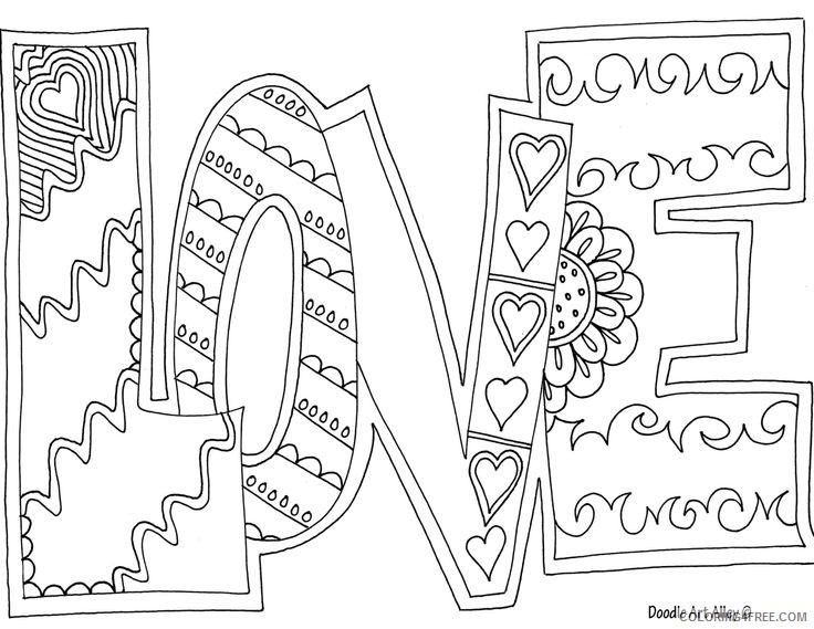 quote coloring pages of love Coloring4free