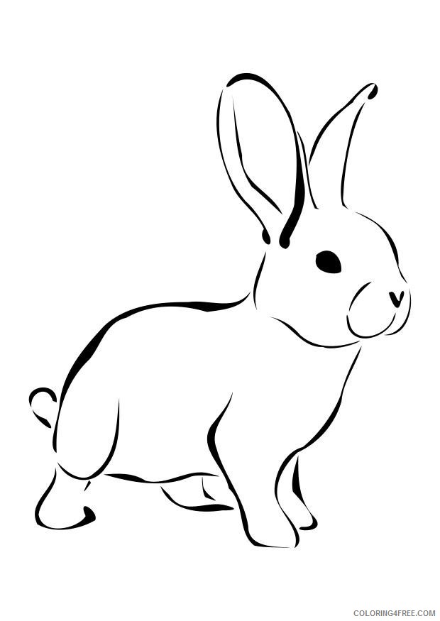 rabbit coloring pages for preschool Coloring4free