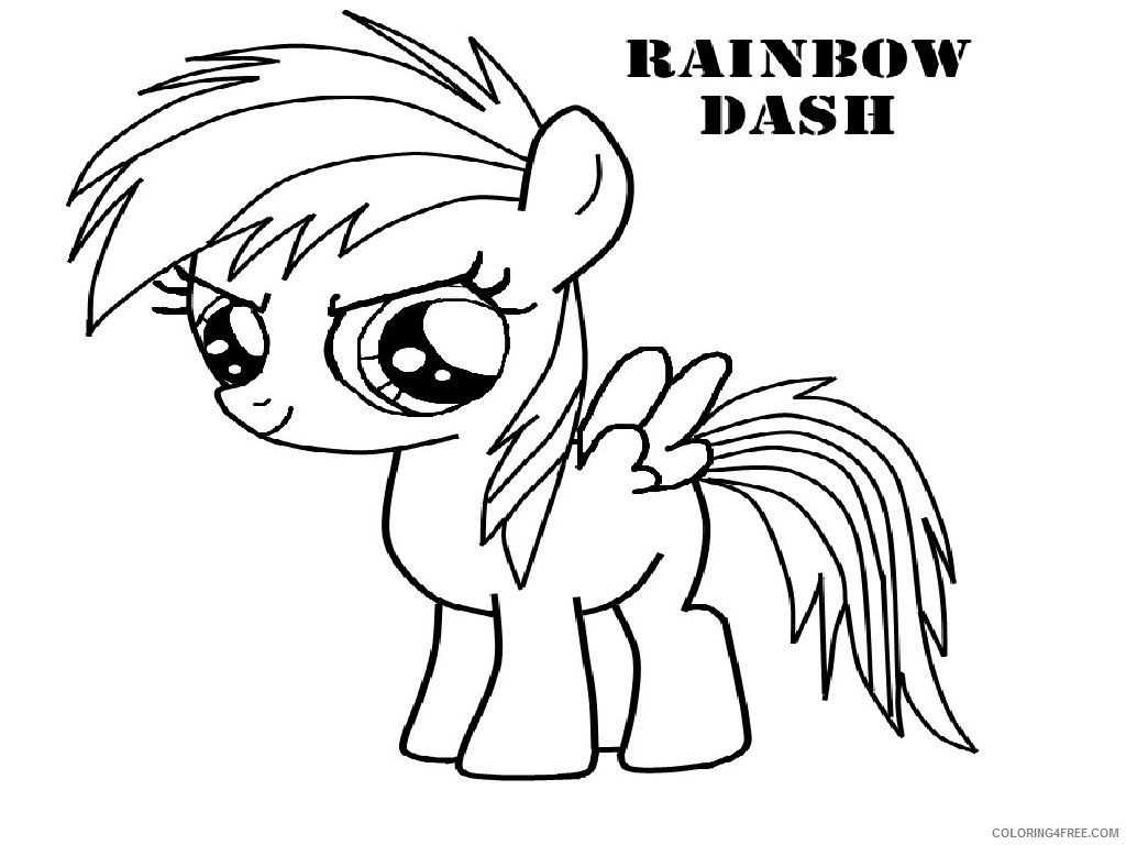 rainbow dash coloring pages for toddler Coloring4free