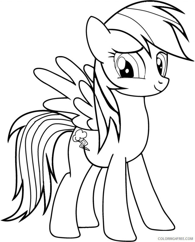 rainbow dash coloring pages my little pony Coloring4free