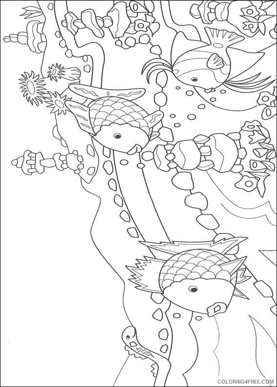 rainbow fish coloring pages and his friends Coloring4free