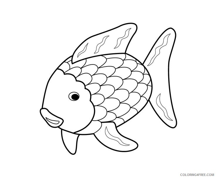 rainbow fish coloring pages for kids Coloring4free