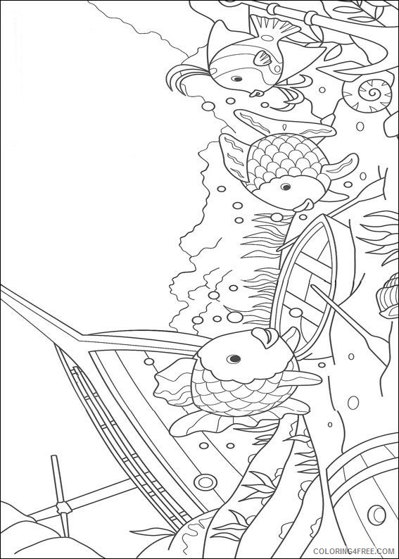 rainbow fish coloring pages in shipwreck park Coloring4free