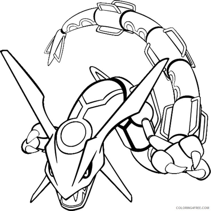 rayquaza legendary pokemon coloring pages Coloring4free