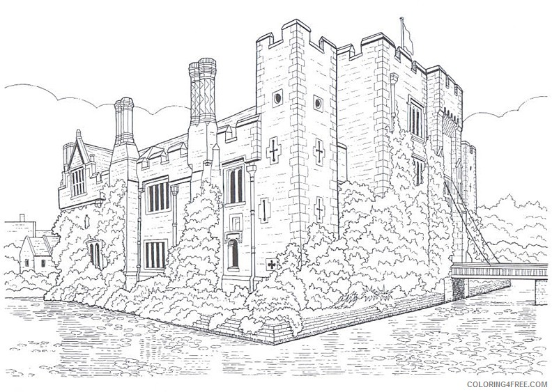 realistic castle coloring pages Coloring4free