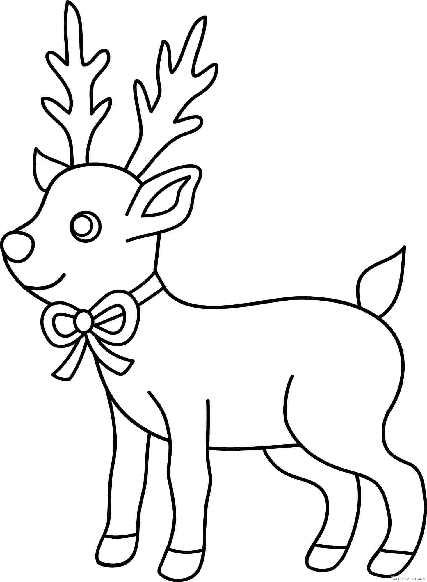 reindeer coloring pages for preschooler Coloring4free