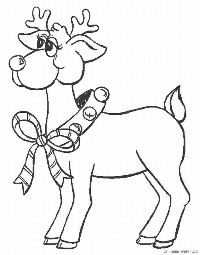 reindeer coloring pages printable Coloring4free