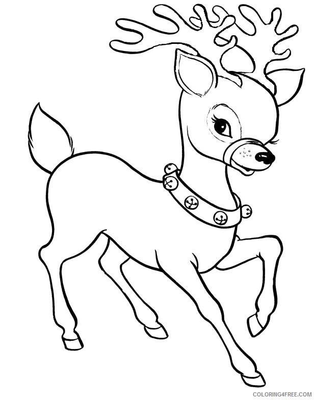 reindeer coloring pages to print Coloring4free