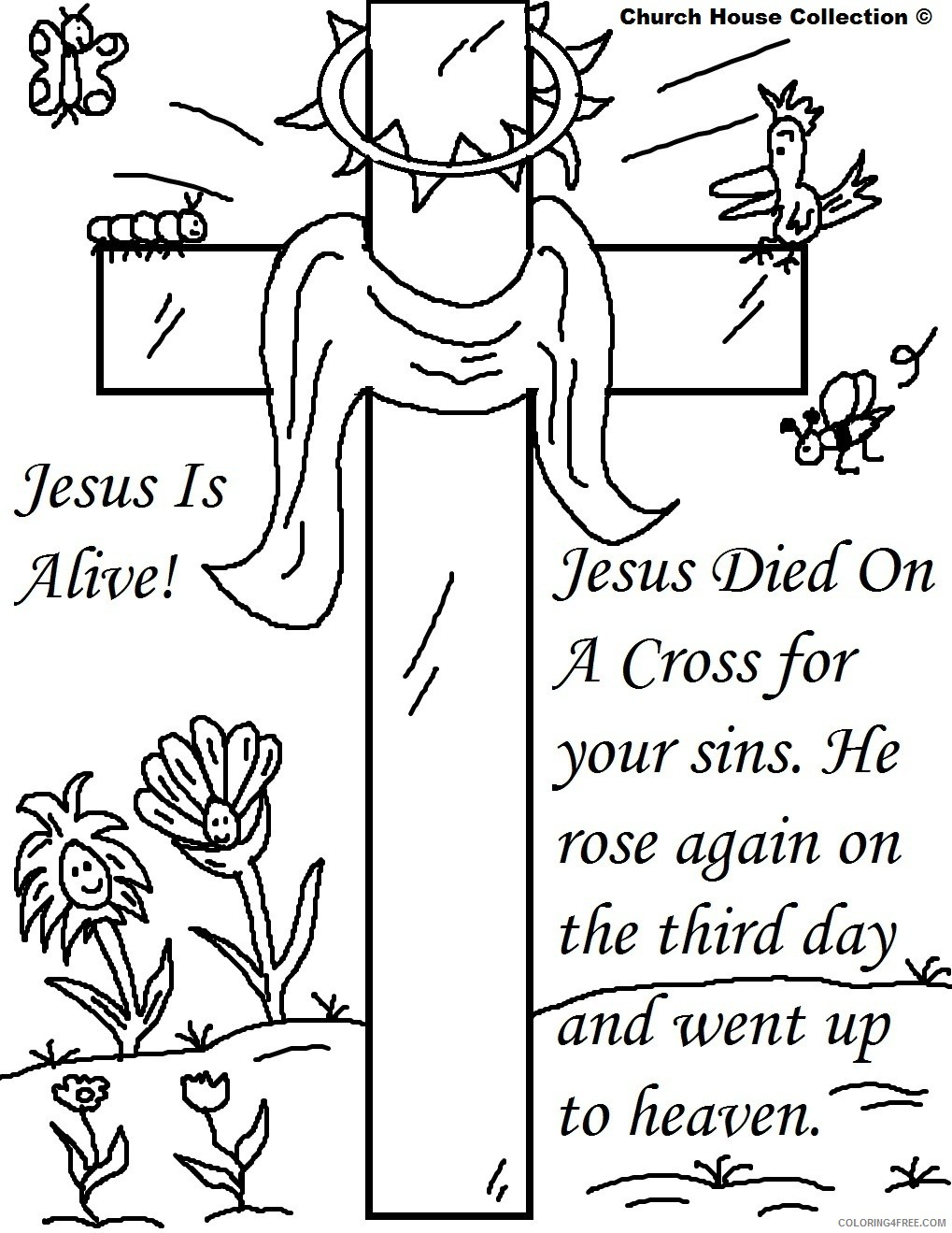 religious cross coloring pages Coloring4free