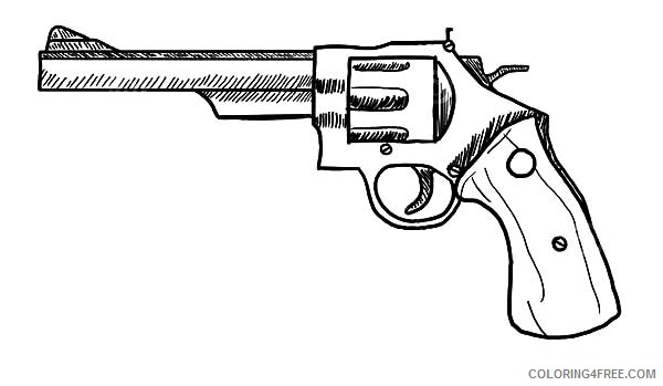 revolver gun coloring pages to print Coloring4free