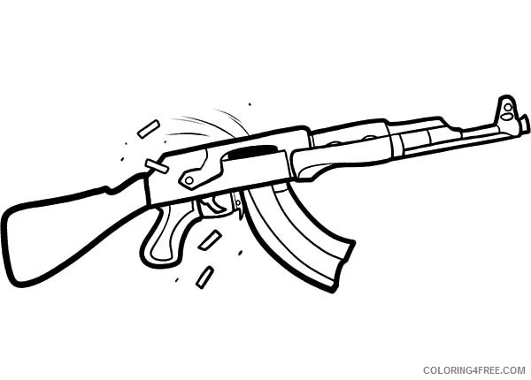rifle gun coloring pages to print Coloring4free