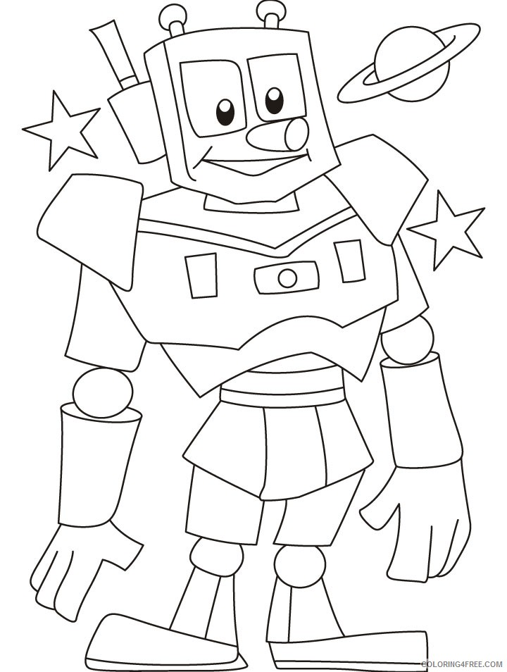 robot coloring pages for kids printable Coloring4free