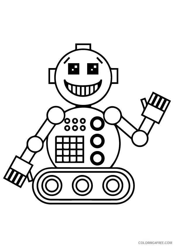 robot coloring pages for toddlers Coloring4free