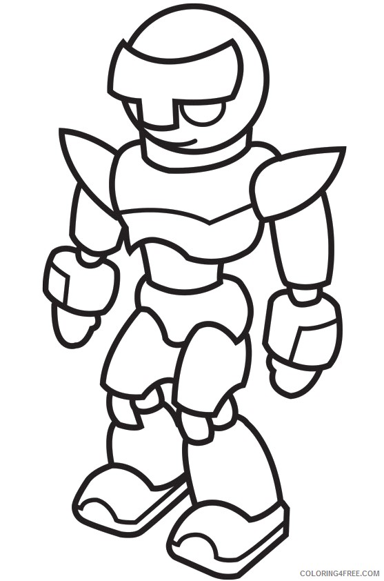 robot coloring pages preschoolers Coloring4free