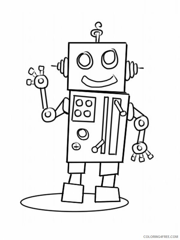 robot coloring pages printable free Coloring4free