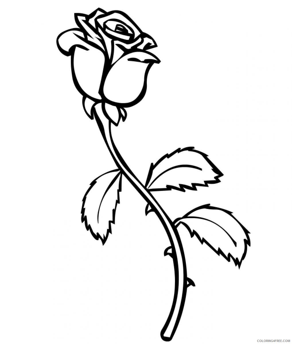 rose coloring pages printable Coloring4free