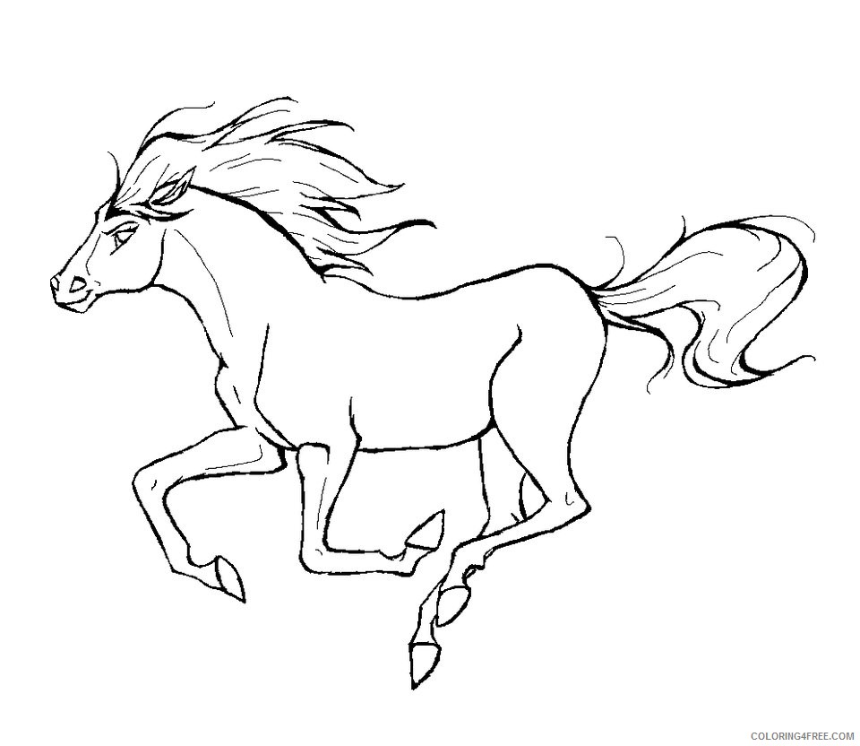 running horse coloring pages Coloring4free