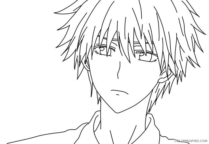 sad anime boy coloring pages Coloring4free