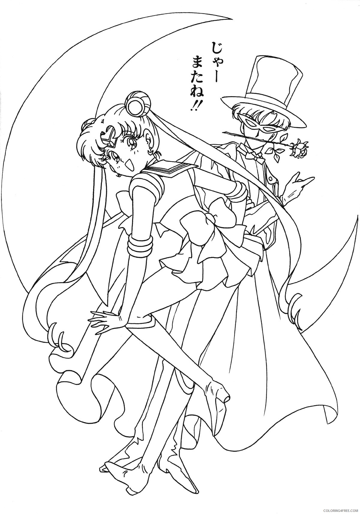 sailor moon coloring pages and tuxedo mask Coloring4free