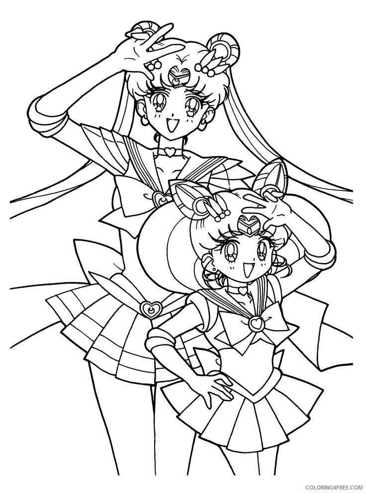 sailor moon coloring pages for kids Coloring4free