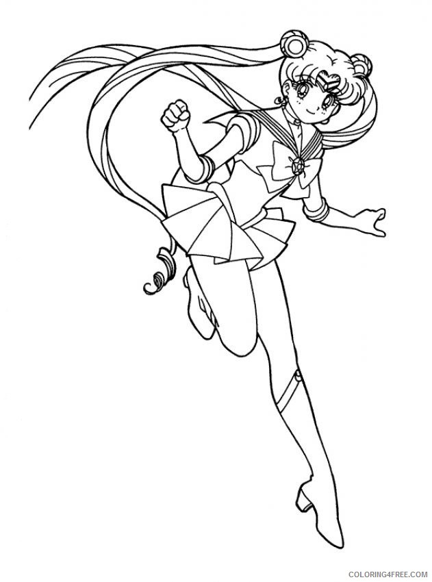 sailor moon coloring pages for kids printable Coloring4free