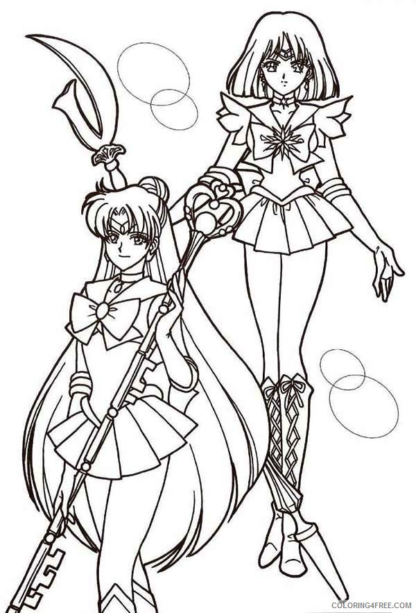 sailor moon coloring pages mars and saturn Coloring4free