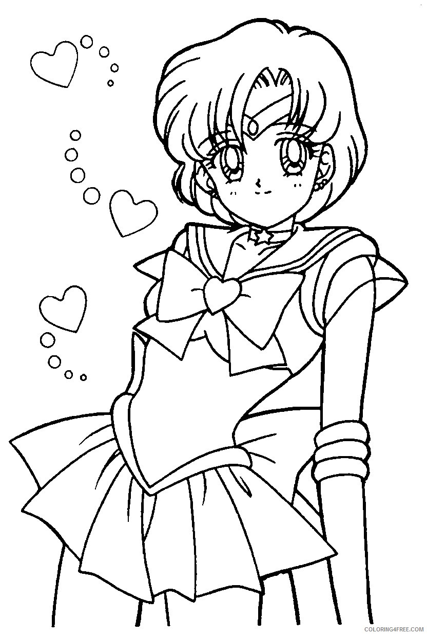 sailor moon coloring pages mercury Coloring4free