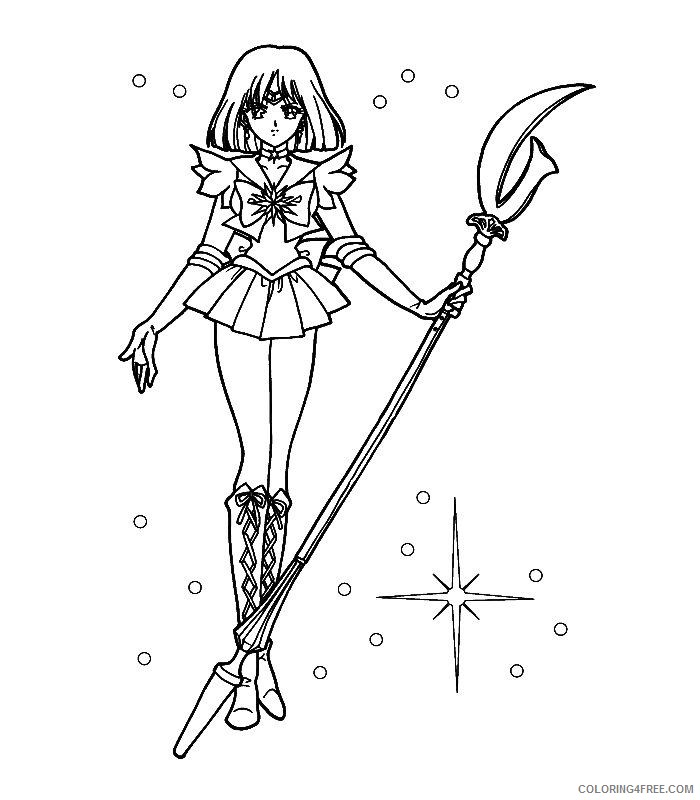 sailor moon coloring pages saturn Coloring4free