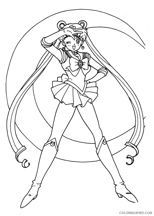 sailor moon coloring pages to print Coloring4free