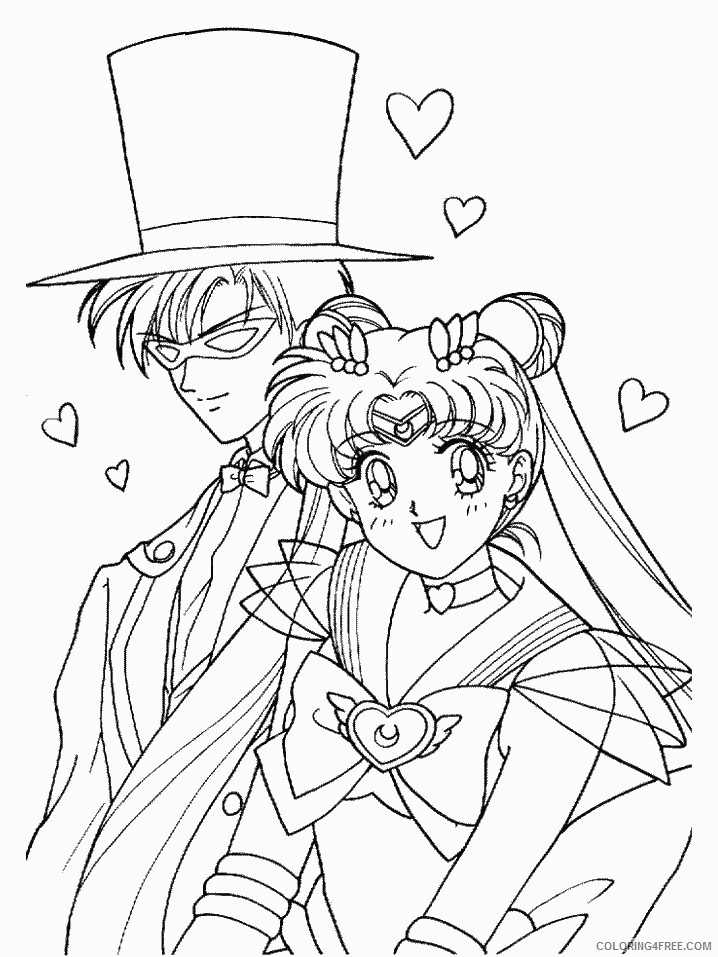 sailor moon coloring pages tuxedo mask Coloring4free