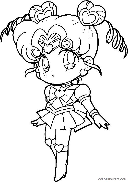 sailor moon coloring pages venus chibi Coloring4free