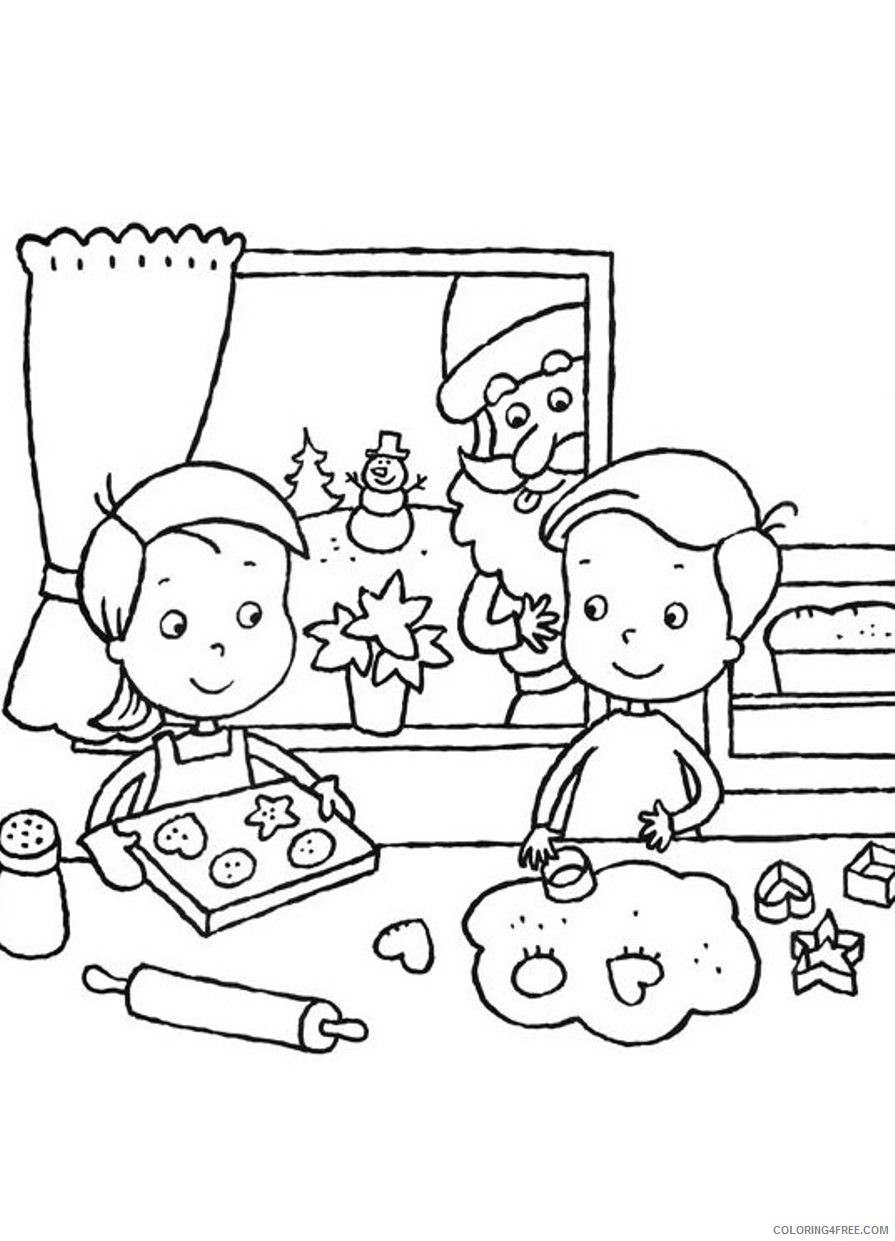 santa claus and kids coloring pages Coloring4free