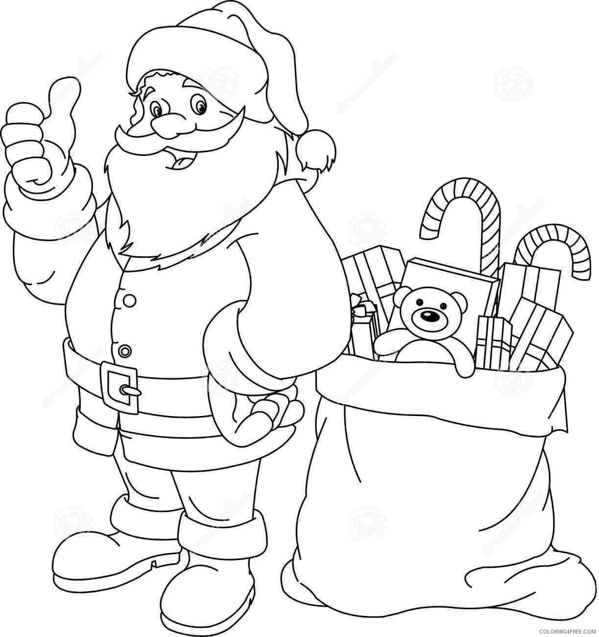 santa claus coloring pages christmas gifts Coloring4free