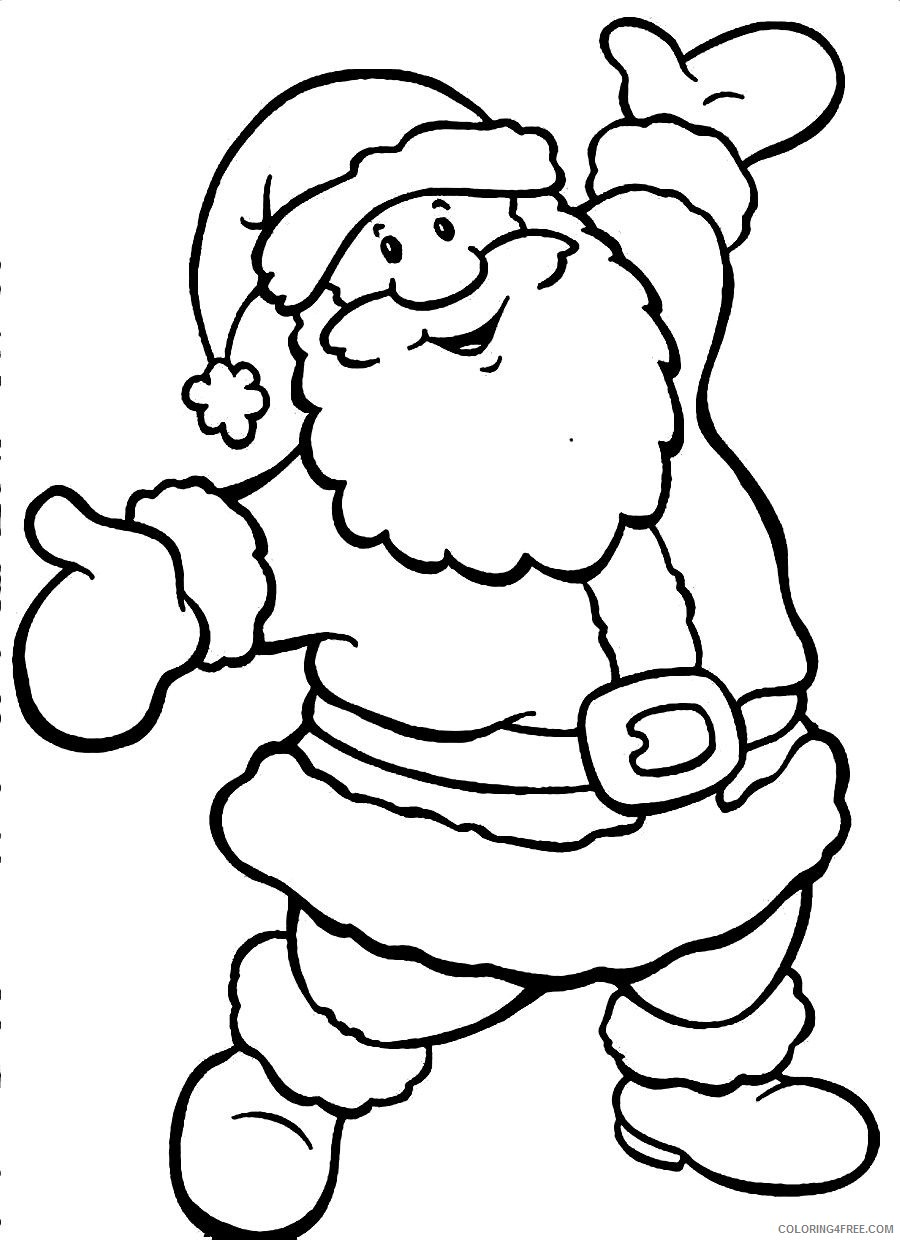 santa claus coloring pages for kids Coloring4free