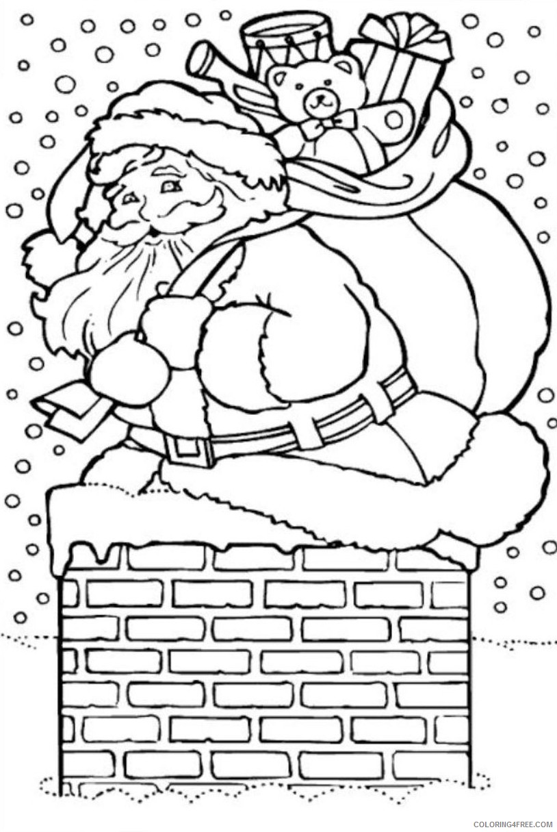 santa claus coloring pages free to print Coloring4free