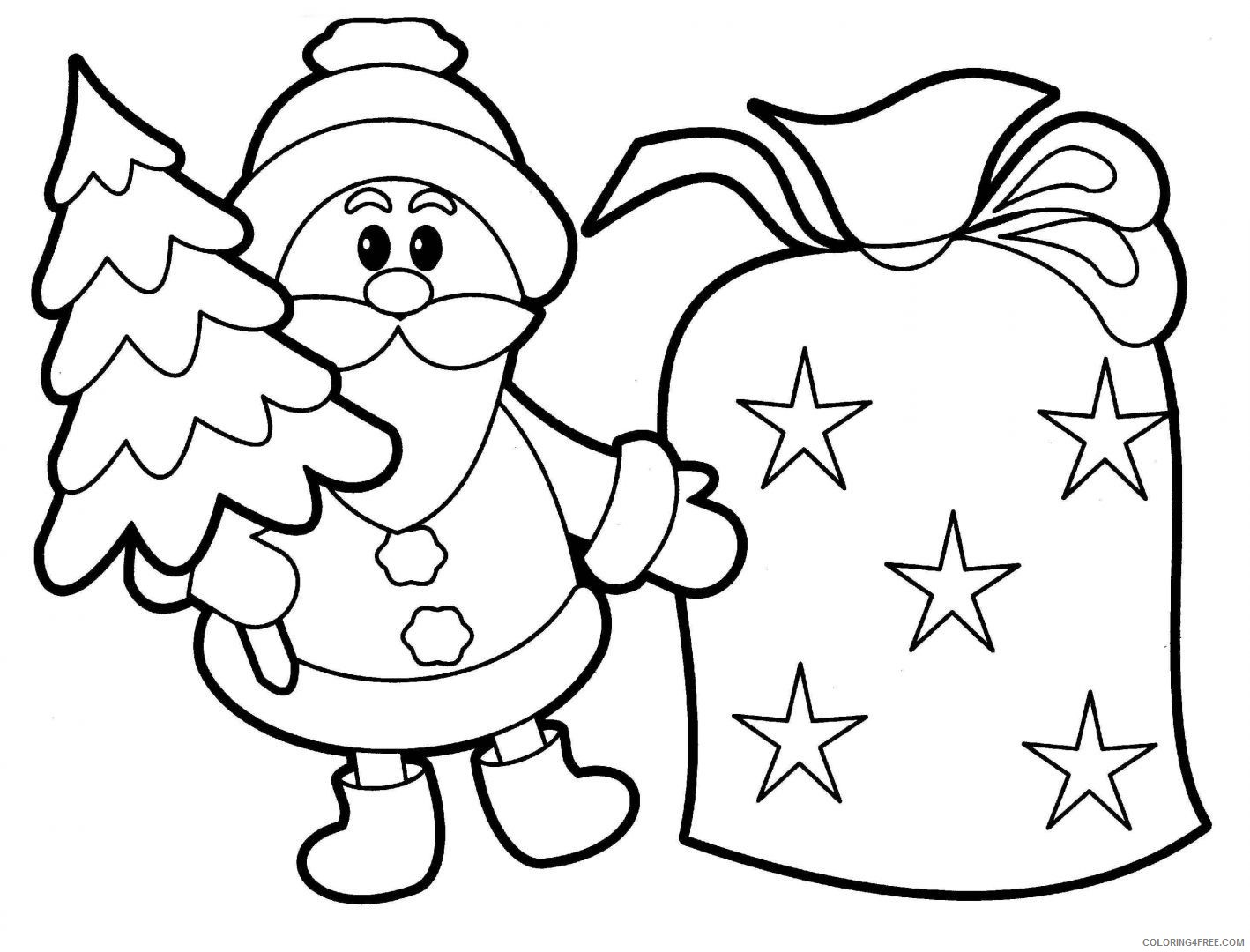 santa claus coloring pages printable Coloring4free