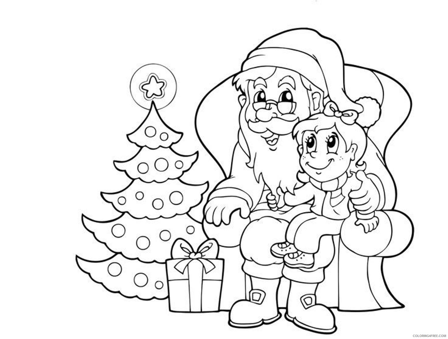 santa claus coloring pages storytelling to kids Coloring4free