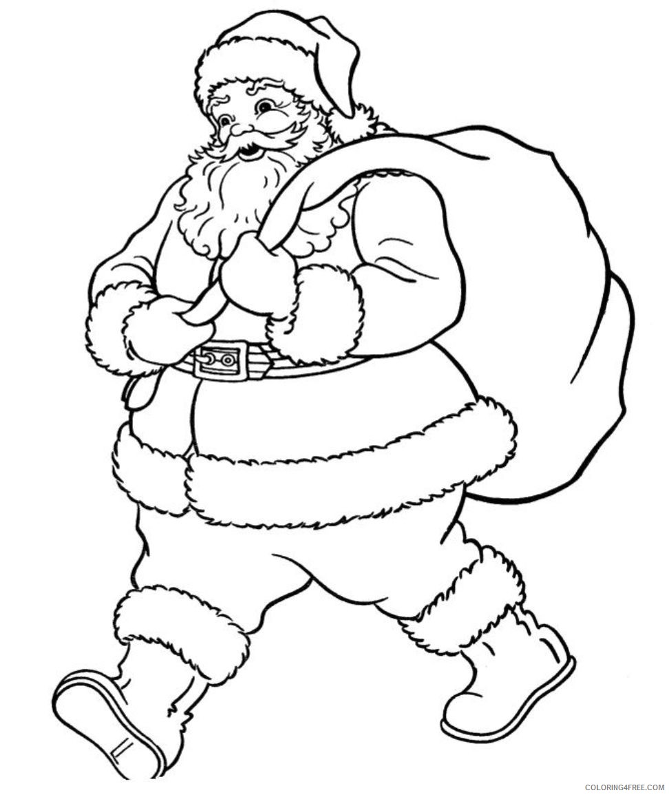 santa claus coloring pages to print Coloring4free