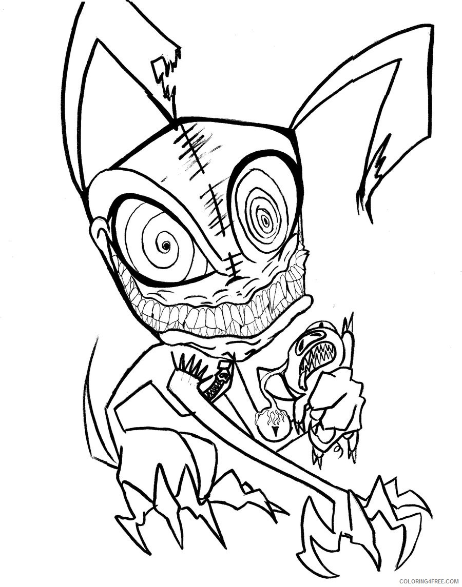 scary coloring pages animal Coloring4free