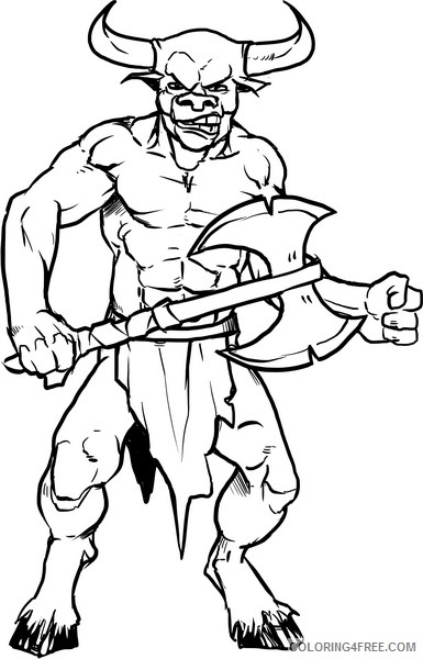 scary coloring pages devil Coloring4free