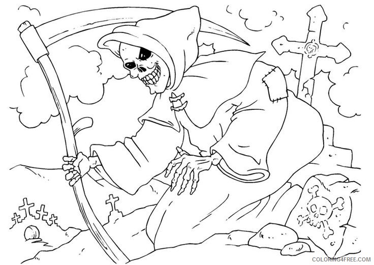 scary coloring pages for adults Coloring4free