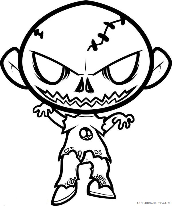 scary coloring pages for kids Coloring4free