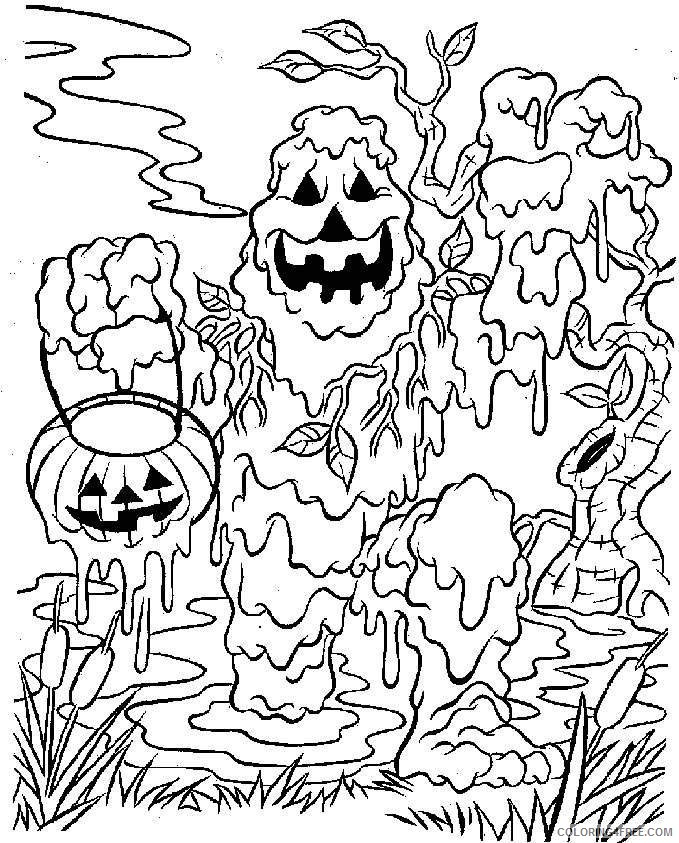 scary coloring pages halloween monster Coloring4free